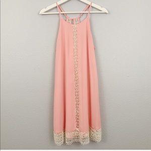 Ya Los Angeles lace detail dress
